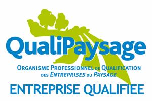 Pour ses activités, notre entreprise est certifiée QUALIPAYSAGE : E130 - P100